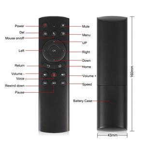Image 2 - 2.4GHzไร้สายG20SเสียงรีโมทคอนโทรลMiniคีย์บอร์ดG20 Fly Airเมาส์ไมโครโฟนGyroสำหรับAndroid TVกล่องH96 MAX X2 X96 MINI