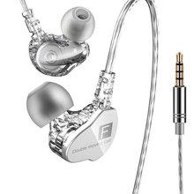Brand New Qkz CK9 Oortelefoon Dual Moving Coil In Ear Headset Zware Bass Stereo Oortelefoon Hifi Dj Sport Oortelefoon headset Oordopjes