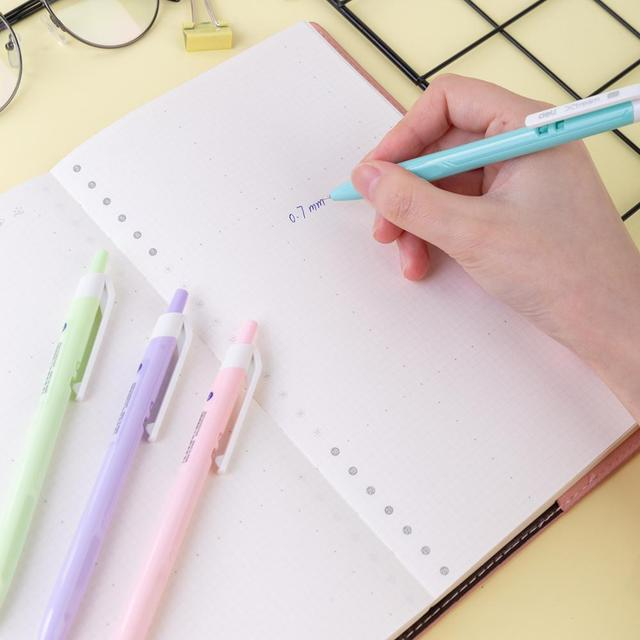 DELI Ball Point Pen Color Student Ballpoint Pen smooth writing Mini tip 0.7mm Fashion Macaron EQ03330 3