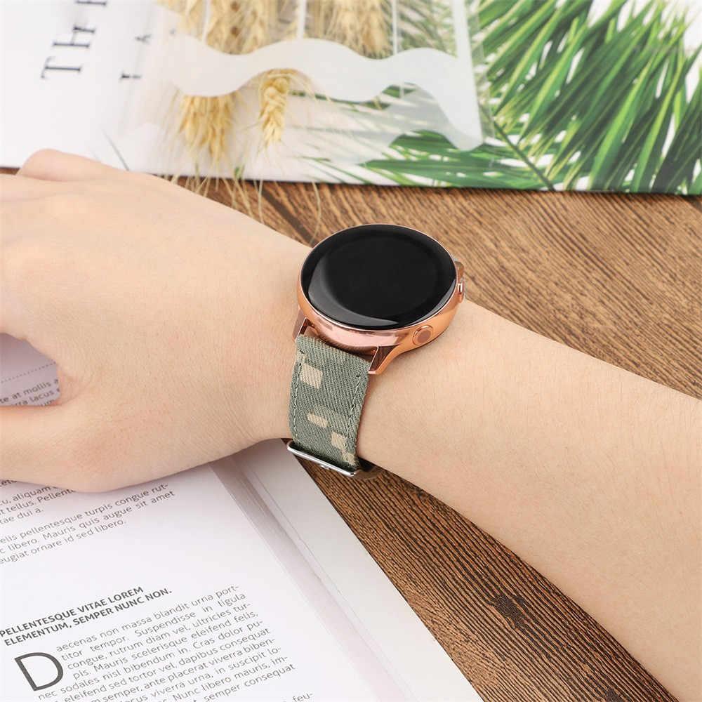 سوار ذكي قماش النايلون جلد حزام (استيك) ساعة حزام لسامسونج غالاكسي ووتش النشطة 20 مللي متر جهاز تعقب للياقة البدنية #40