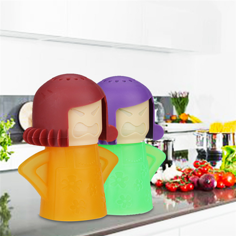 Creative Angry Mother Shaped Microwave Cleaner With Natural Steam Power to Remove Oil and Dirt 11