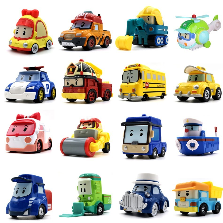 Robocar Kids Toys  Korea Robot Poli Roy Haley Anime Metal Action Figure Cartoon CE Certification Toy Car For Children  Gift
