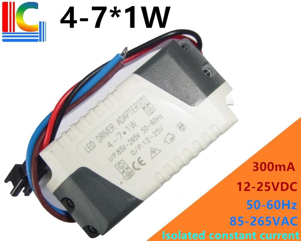 DC 12V Driver Supply 4-7x1W for High Power LED Light MR16 4W 5W 6W 7W 10pcs AC