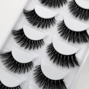 Image 5 - Wholesale Eyelasehes 50 pairs 3D Mink Hair False Eyelashes Natural/Thick Long Eye Lashes Wispy Makeup Beauty Extension Tools