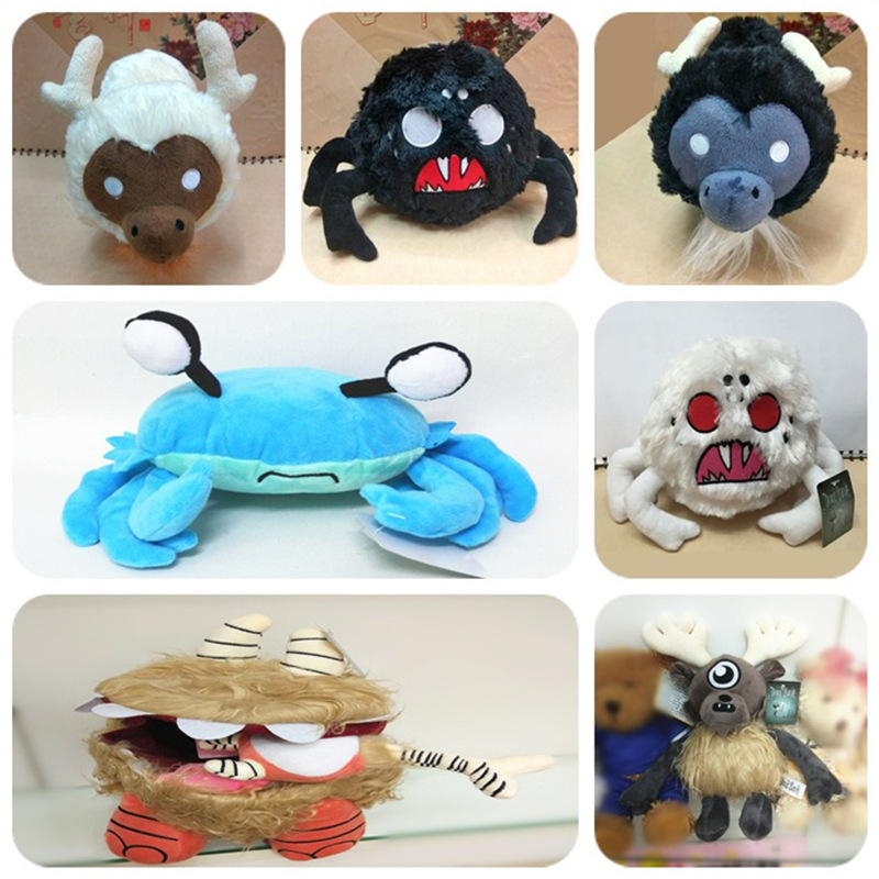 Do Not Starve Don't Starve Chester Eye Bone Hissing Spider White Black Beefalo Cow Plush Doll Toys Children Stuffed Kids Gift
