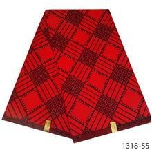 Африканская ткань с принтом воска из полиэстера 6 ярдов 1318