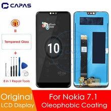 "100% Original For Nokia 7.1 LCD Display 10 Touch Screen Panel For Nokia 7.1 LCD Screen Digitizer 5.84"" Replacement Repair Parts"
