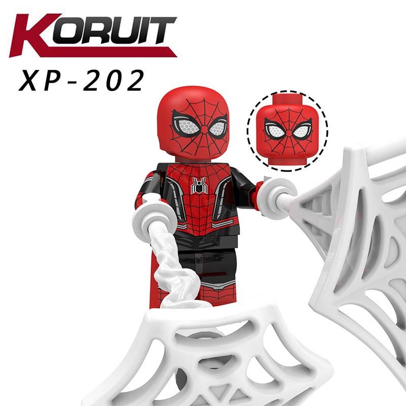 Single Sale Compatible LegoINGlys Far From Home Blocks Spider-man Armor Cyborg Venom Battle Suit Bricks Diy Toy Baby Gift Kt1027