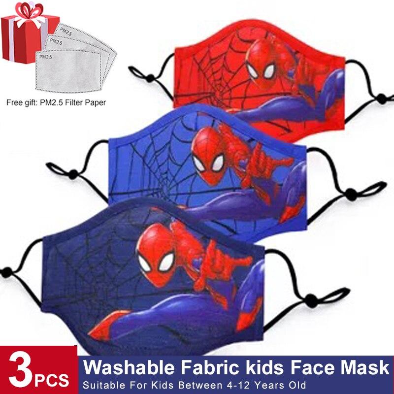 Super fasion herói crianças máscaras de algodão reutilizável lavável menino meninas criança máscaras de rosto dos desenhos animados máscara de boca para crianças