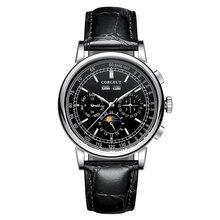 Часы Мужские Механические 316Lสแตนเลสดวงจันทร์เฟสRelogio A Prova De AguaอัตโนมัติMechanicalนาฬิกาผู้ชายMontre Homme
