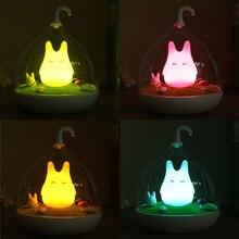 Sprzedaż klatka Totoro kinkiet kryty przenośne USB czujnika dotykowego LED lampka nocna dla dzieci dzieciak noc światła lampka nocna wystrój domu sypialnia