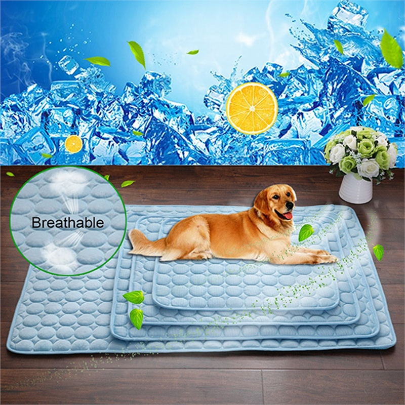 1pc Cooling Pet Cushion Beds For Dog Summer Dog Cushions For Travel Car Seat Dog Mat Plaid Easy Clean Dogs Supplies