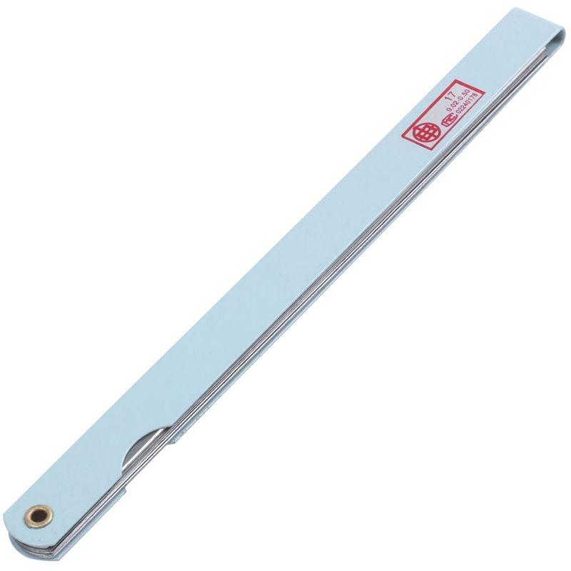 200mm Long 17 Leaves 0.02mm-1.0mm Gap Thick Measure Feeler Gauge Gage