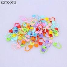 Zotoone 100 pçs/lote mix cor plástico tricô ferramentas de bloqueio ponto marcadores crochê trava tricô ferramentas agulha clipe gancho