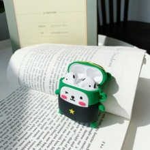 For AirPods earphone Case Cartoon Cute Funny Wireless Bluetooth Earphone Soft Silicone Cover Airpods Cases