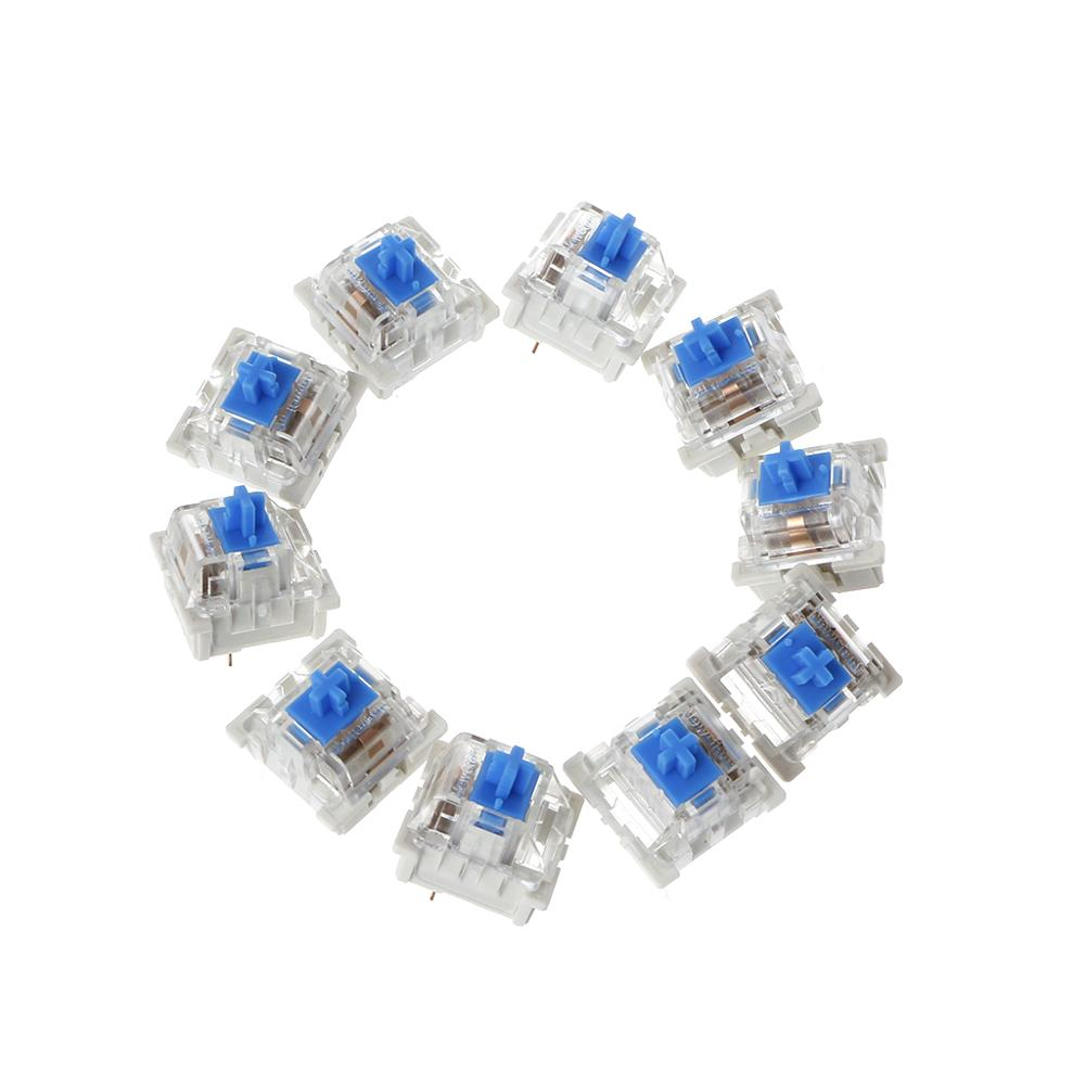 10Pcs 3 Pin Mechanical Keyboard Switch Blue Replacement For Gateron Cherry MX