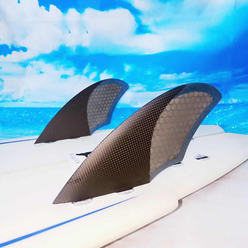 Nieuwe Ontwerp Kiel fin FCS twin fin set Surfen carbonfiber Surfplank Vinnen FK 2 stuks per set carbon glasvezel, honing kam surf board