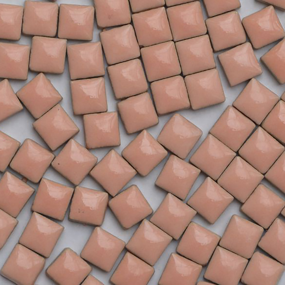 Lychee Life 100pcs Multicolor Glass Mosaic Tile Square Ceramic Mosaic Tiles DIY Arts Crafts Making Material