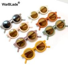 Warblade pequeno redondo crianças óculos de sol moda menino meninas do vintage óculos de sol uv400 proteção óculos de sol