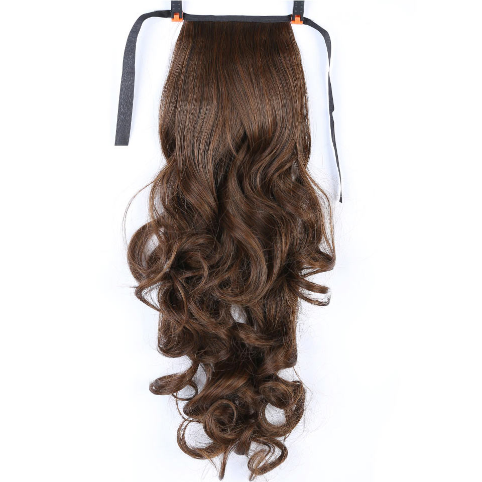 MSTN 22'' Long Curly Hair Ponytail Hair High Temperature Resistant Hair Tail Clip Long Hair Ponytail Hairpin Synthetic Hairpiece