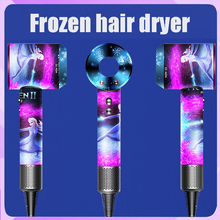 Hair-Dryer Leafless Negative-Ion Red Hollow Home Disney Wired Frozen Constant-Temperature-Adjustment