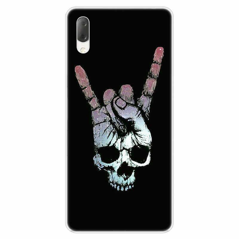 Rock roll skull Case For Sony Xperia L1 L2 L3 X XA XA1 XA2 Ultra E5 XZ XZ1 XZ2 Compact XZ3 M4 Aqua Z3 Z5 Premium Fashion Cover