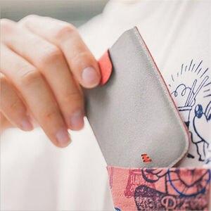 LKEEP ультра тонкие держатели для карт цветные градиентные смарт-карты мужские кошельки сумки для денег портативные карты женские короткие к...