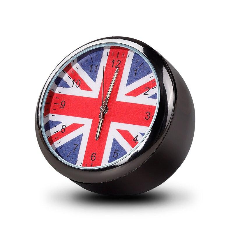 For Mini Cooper JCW S F55 56 F60 R55 R56 R60 Union Jack Auto Modified Car Interior Electronic Quartz Watch Car Clock Decoration