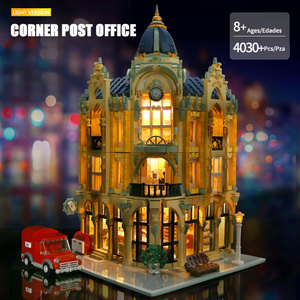 Image 2 - MOC 15002 15003 Street View Building Compatible With 10182 Cafe Conrner Led Light Model Building Blocks Kids Christmas Toys Gift