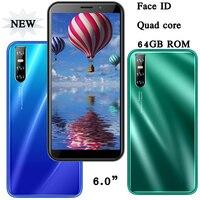 Teléfono Inteligente A30 desbloqueado, smartphone con identificación facial, 6,0 pulgadas, 4 GB de RAM, 64 GB de rom, Quad Core, versión Global, Android, Original