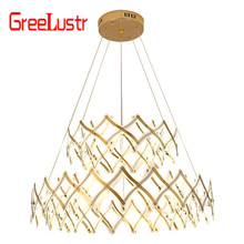 Nordic INS Modern Minimalist Light Creative Stainless Steel Bedroom Dining Room Chandelier Living Room Chandelier nordic post modern minimalist transparent glass chandeliers dining room living room bar creative art chandelier free shipping