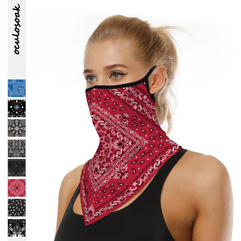 Totem Digital Printing Outdoor Sports Hanging Ear Triangle Scarf Mask Multifunctional Sunscreen Magic Turban