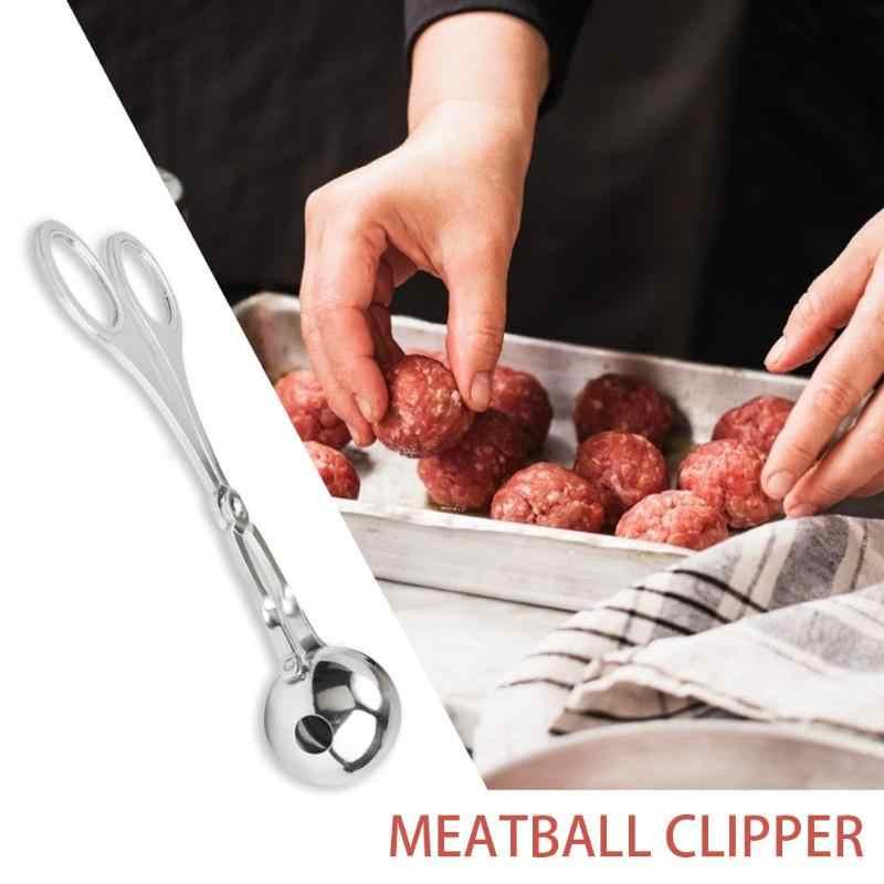 Fabricant de boules de viande en acier inoxydable | Ménage Durable bricolage poisson en peluche, viande riz en boule, Clips argent pratique pratique