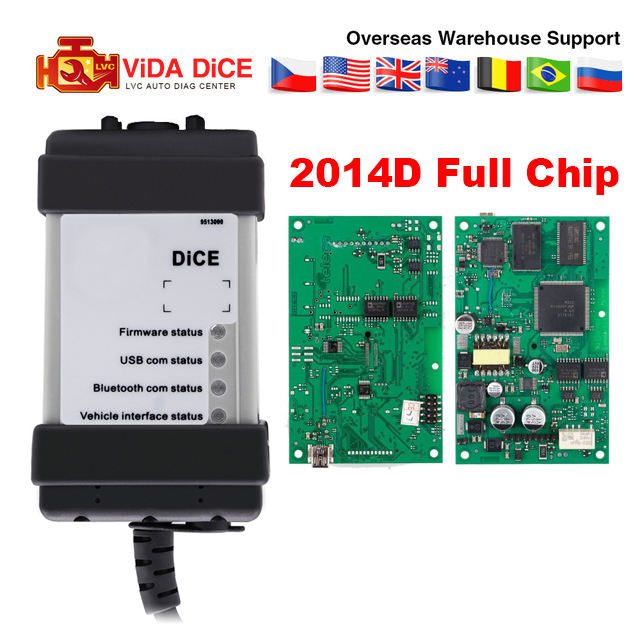 VIDA DICE Full Chip For Volvo Dice 2014D Diagnostic Tool Multi Language Vida Dice Pro Green Board Vida Dice OBD2 diagnostic tool on
