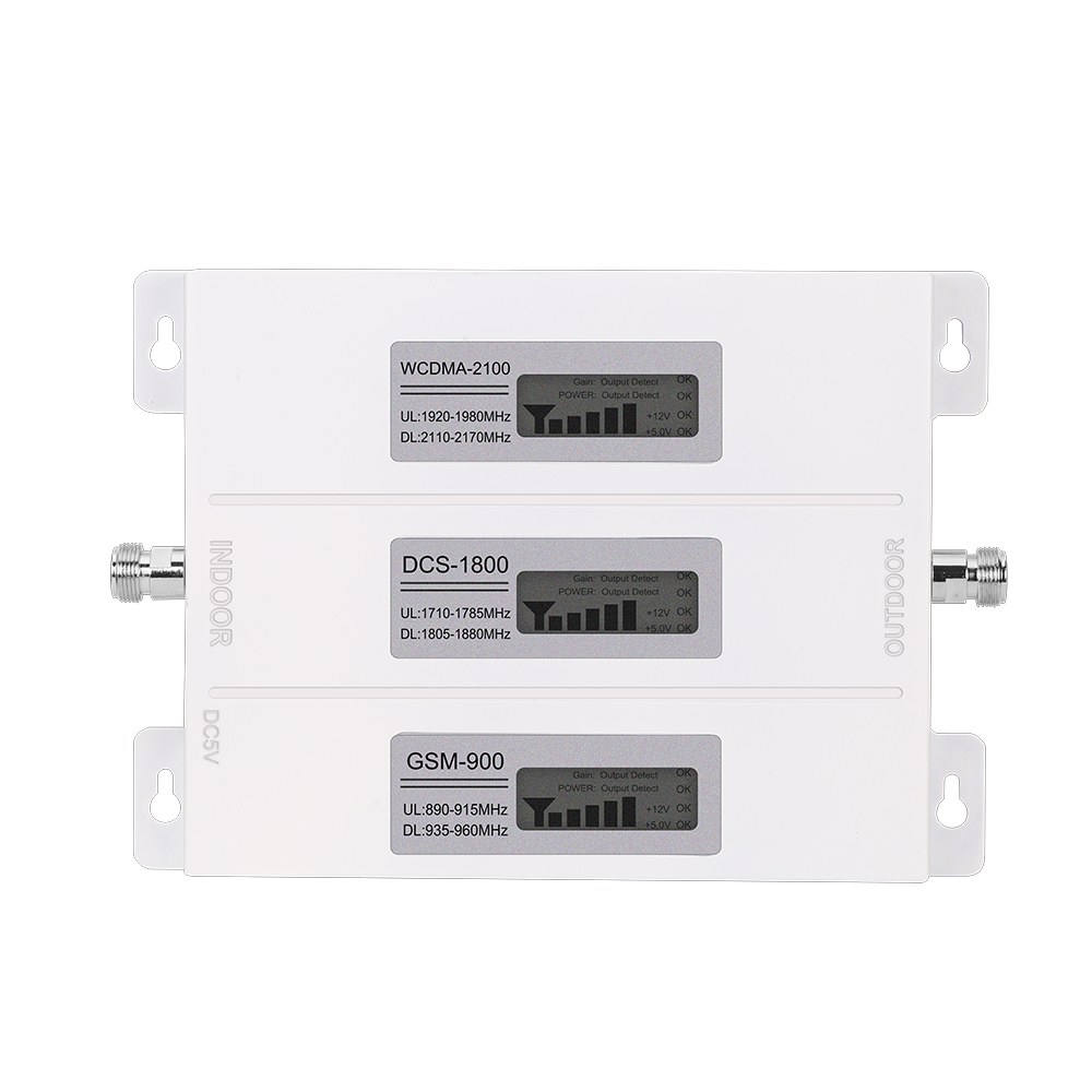 Walokcon R23A-GDW Mobile Signal Booster 2G 3G 4G GSM DCS LTE WCDMA 900 1800 2100 Tri Band GSM Signal Repeater 4G LTE Booster