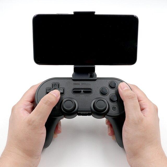 8 bitdo Offizielle Smartphone Clip Halter für SN30 Pro + für Bluetooth Controller SN/G Classic Edition Mit Silikon pad schutz