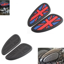 Retro Motorcycle Cafe Racer Gas Fuel tank Rubber Sticker Protector Sheath Knee Tank pad Grip Decal For Triumph