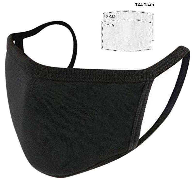 Men Women Face Masks Anti-bacterial Dust Masks Black Unisex Breathable Mouth Mask