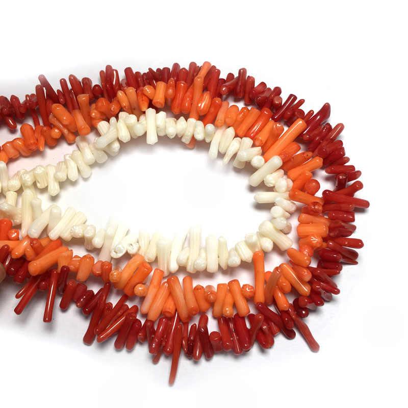 Kamień naturalny koral koraliki nieregularny kształt luźne koraliki izolacji koraliki do tworzenia biżuterii DIY dla bransoletka akcesoria naszyjnikowe