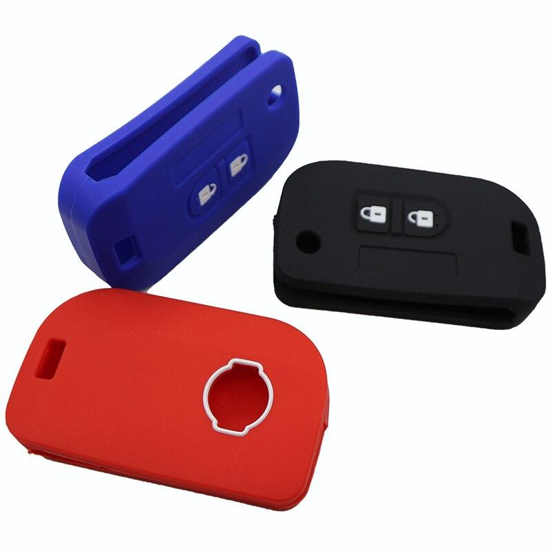 Funda de Silicona Cubierta para Botones de 2 Botones para Nissan Qashqai Micra Navara Almera