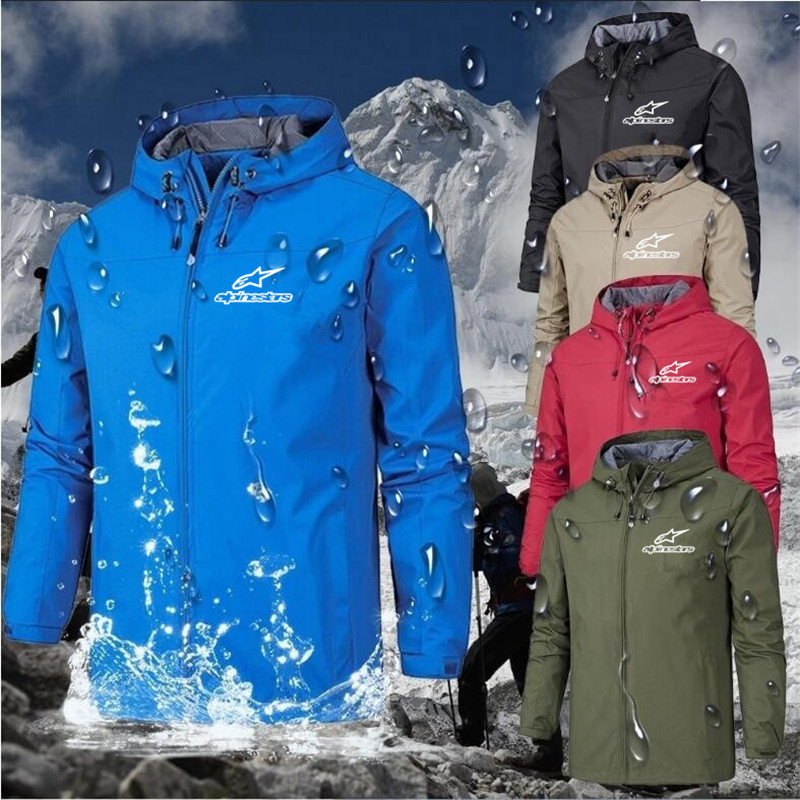 2021 Alpinestars Summer Man Custom Punk hoodies Cycling Thin Zipper Jackets Hip Hop Men's black Harajuku windbreakers Coat Tops