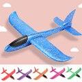 Для детей 5/6, 10 штук в партии, 48 см ручной бросок Самолет EPP Поролоновый Запуск Fly планер модели самолетов самолета на открытом воздухе забавн...