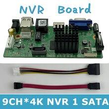 Caméra IP enregistreur vidéo numérique DVR en réseau, H.265, 9 canaux x 4K, 8T Max, détection de mouvement, OVNIF CMS XMEYE SATA, ligne P2P Cloud