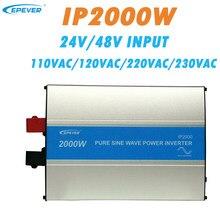 EPever 2000W czysta fala sinusoidalna falownik 24V/48V wejście 110VAC 120VAC 220VAC 230VAC wyjście 50HZ 60HZ wysokowydajny konwerter IPower