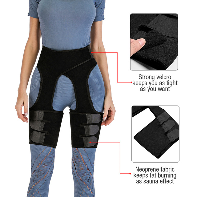 Sexy Neoprene Sweat Shapewear Toned Muscles Band Thigh Slimmer Wrap Slim Thigh Trimmer Leg Shapers Slender Slimming Belt 2