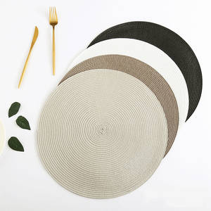 4/6 Pcs Round Placemats For Dining Table Mat Non-slip Heat Insulation Waterproof Coaster Cup Placemat Kitchen Accessories