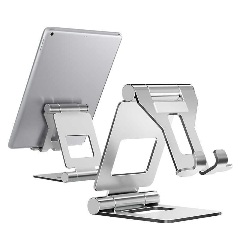 LINGCHEN حامل لوحي قابل للطي حامل قابل للتعديل المواد المعدنية حامل هاتف كبير الحجم سبائك الألومنيوم لباد mini/ipad air