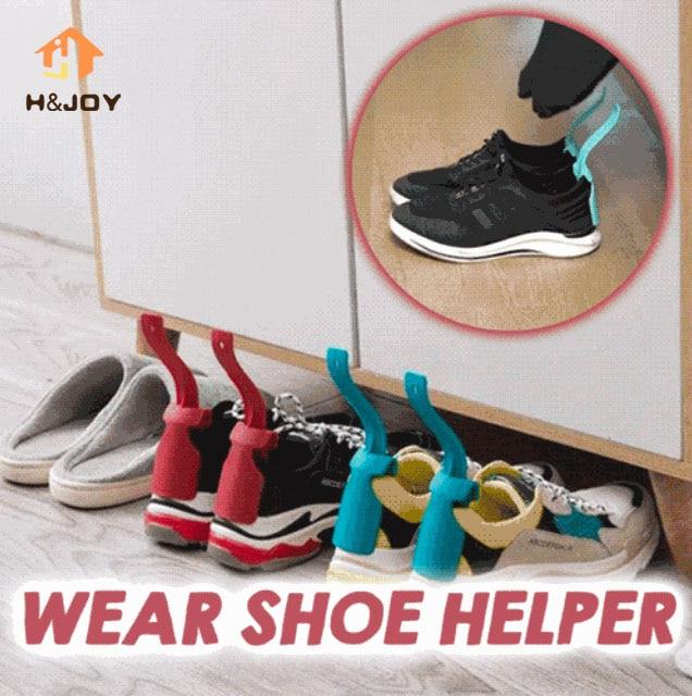 Portable Lazy Shoe Helper Unisex Handled Shoe Horn on /& Easy Easy Off Wear O1M2