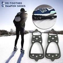 Antypoślizgowe śnieg Ice Crampon buty wspinaczkowe kolce uchwyty raki knagi kalosze raki Spike buty crampon 1 para 8 tanie tanio YOUYEDIAN CN (pochodzenie)