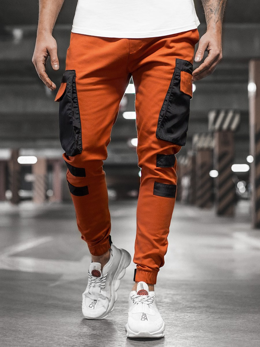 Autumn New Men Pants Hip Hop Harem Joggers Pants Male Trousers Mens Solid Multi-pocket Cargo Pants Skinny Fit Sweatpants